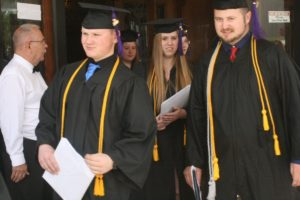 Two honors students leave graduation