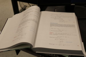 Picture of an open calculus book