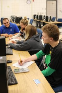 Professor Tyler Maley instructs students.