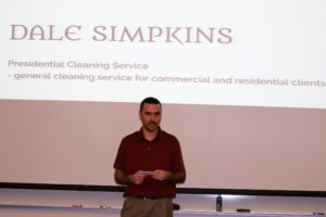 Dale Simpkins wants to provide a quality professional cleaning service for home and commercial clients.