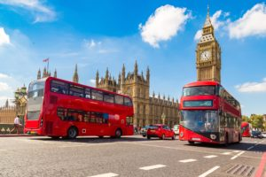 Picture of double-decker bus in London