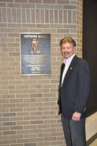 Ed Danner with Dr. Bryson Plaque